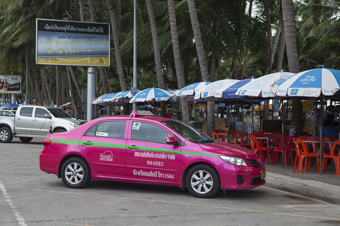 Taxis parken in Pattaya.