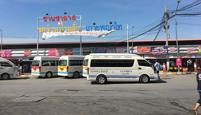 Minivans in Mo Chit Bus-Station Bangkok
